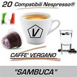 "Capsules Compatible Nespresso 20 Capsules de Caffè Vergano Mélange ""Aromatisée sambuca"" Ligne Espresso - Le Vrai Café Italien"