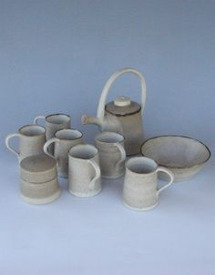 tea/coffee set | www.clayaction.com | Handcrafted Contemporary Ceramics | Fuctional & Decorative Art | Stoneware & Porcelain | Sculpture | Design | Online Art Gallery