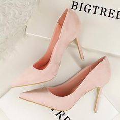 Elegant Women Pumps High Heels Pointed Toe Sexy Women Shoes Soft Women Shoes For Lady High Heel Office Shoes Pump Type: Basic Lining Material: PU Style: Fashio