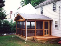 Decks And Porches | Cedar framed porch and deck - Newton - Screened Porches Photo Gallery ...