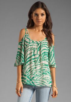 9f037804dbb63 Lovers Friends All Smiles Cold Shoulder Top in Teal Zebra