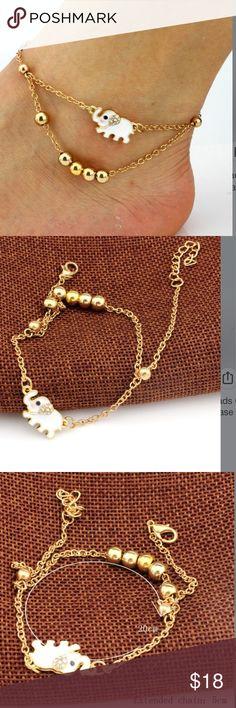 New golden ankle bracelet -.white elephant One per order - bundle and save Jewelry Bracelets