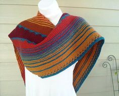 Canyonlands Shawl Knitting Pattern and more colorful shawl knitting patterns