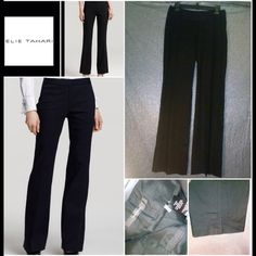 "Elie TahariTheora Linen Corporate Widebottom pants Elie Tahari Linen 58% , wide bottom corporate ""Theora"" pants..New.NWOT Tahari Pants Trousers"