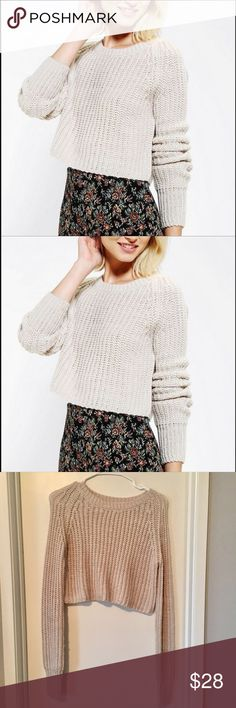 Selling this Urban outfitters kimchi blue shaker crop sweater on Poshmark! My username is: fashiondea. #shopmycloset #poshmark #fashion #shopping #style #forsale #Urban Outfitters #Sweaters