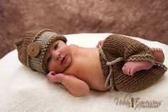 Newborn Knit baby hat and pants Photo prop set Knitted beanie hat Knit pants Baby girl Baby boy Photo prop on Etsy, $37.00