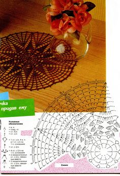 Kira scheme crochet: Scheme crochet no. Crochet Doily Diagram, Crochet Doily Patterns, Crochet Chart, Thread Crochet, Filet Crochet, Crochet Motif, Knit Crochet, Crochet Stitches, Doily Rug