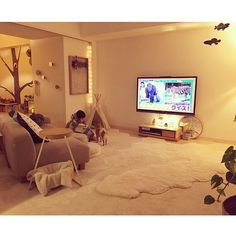 Japanese Home Decor, Japanese House, One Room Houses, Room Interior, Interior Design, Living Room Tv, Spare Room, Small Rooms, Minimalist Home