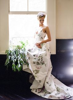 Something Blue Wedding- Floral Wedding Dress Ashley Peraino Floral Wedding Gown, Wedding Party Dresses, Wedding Suits, Wedding Bride, Something Blue Wedding, Bridal Salon, Wedding Event Planner, Bridal Gowns, One Shoulder Wedding Dress