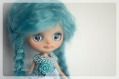 Petite Blythe Custom  Blue by ByArtemis on Etsy, $210.00