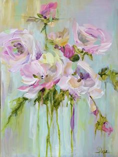 Pastel Floral - Acrylic by Susan Pepe