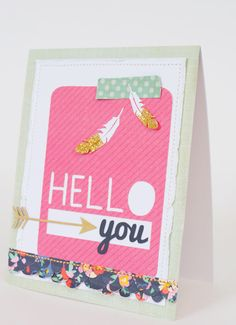 Love this Hello You card on Kara's Party Ideas! KarasPartyIdeas.com
