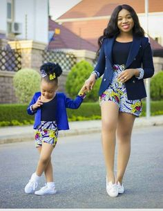 African Print/ Ankara Blouse and Skirt/ African Clothing/ Ankara Print : Couples African Outfits, African Dresses For Kids, African Dresses For Women, African Print Dresses, African Attire, African Kids, African Fashion Designers, African Fashion Ankara, Latest African Fashion Dresses