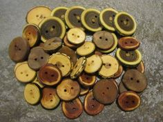 Wooden Button Variety Pack 6 Wood Types 50 by PymatuningCrafts, $30.00
