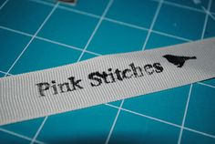 Pink Stitches: How To Make Your Own Labels