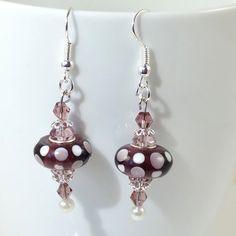 European Bead Silver Dangle Drop Earrings Handmade by BekisBeads #ALEXPALS @ALEXGRN65