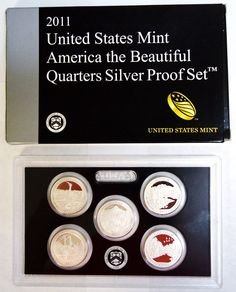 You are bidding on a 2011 United States Mint America the Beautiful Quarters Silver Proof Set! The set consists of 5 quarters. COA is included! Purchasing bullion and/or coins involves price risk, and the buyer assumes all such risk.