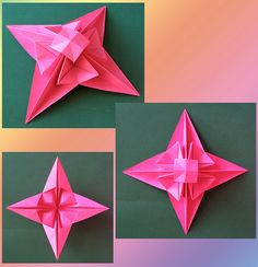 3D Star. Origami from one square of copy paper, 21 x 21 cm. Designed and folded by Francesco Guarnieri, September 2011. Crease Pattern: http://www.flickr.com/photos/f_guarnieri/6741591461/