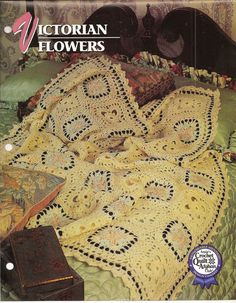 Victorian Flowers Afghan Crochet Pattern from Annies Attic Crochet & Quilt Club #AnniesAttic