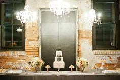 Romantic Dessert Table with Star Wars details by Shauna Younge