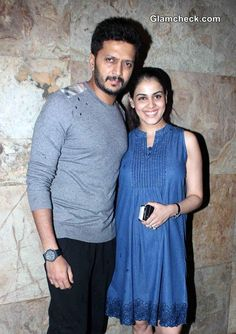 Riteish Deshmukh with his wife Genelia D'Souza