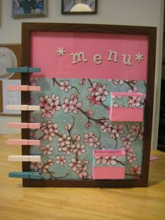 Here is my new Menu Planner! I just need to make the meal cards now!