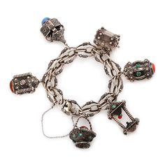 Старинный чарм-браслет