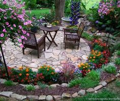 15 wonderful garden edging ideas with pebbles and stones gardening design - Garden Design Backyard