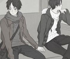 meol deosl *-*      kawaii - moe - mangá - anime - yaoi - bl - boys love - onibus - mão dadas  (ノ≧∀≦)ノ