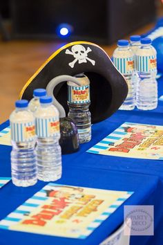 Dylan's Jake and the Never Land Pirates-Themed Party – Kiddie Table Centerpiece / Setup