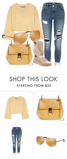 """Yellow Choice"" by smartbuyglasses-uk ❤ liked on Polyvore featuring adidas Originals, Chloé, River Island, Michael Kors, Puma and yellow"