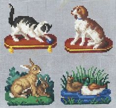 Berlin WoolWork Patterns ~ Cat Dog Rabbits & Ducks