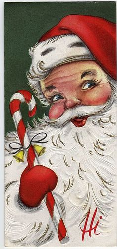 I love vintage style Santa....this is the Santa I remember or so well