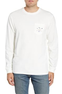 Men's Southern Tide Oars Classic Fit Graphic Long Sleeve T-Shirt, Size Large - White Southern Tide, Cut Shirts, Signature Style, Nordstrom, Large White, Sweatshirts, Classic, Long Sleeve, Fitness