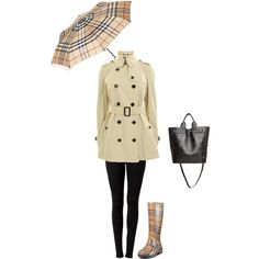Rainy Burberry Day, created by nitsomsanith on Polyvore