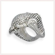 Sterling Silver Wrap Around Alligator Story Bead Charm.  This Bead is compatible with Pandora, Troll, Chamilia, Biagi & other styles of European bracelets. These beads fit but does NOT represent any of these major brands!