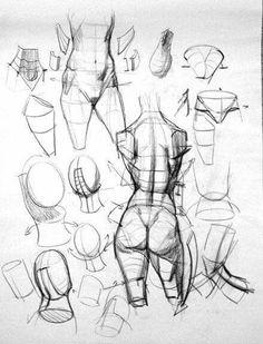 """Anatomy Studies Demo: """"Figure Studies"""" by Kevin's Chen analytical figure drawing Figure Drawing Tutorial, Human Figure Drawing, Figure Sketching, Figure Drawing Reference, Anatomy Reference, Life Drawing, Drawing Tutorials, Drawing Tips, Human Anatomy Drawing"""