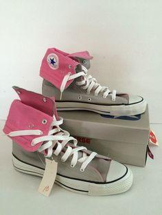 ee32bfaf801 Vintage Converse All Star Chuck Taylor Shoes NeeHi Gray Pink 10 12 NOS NIB  HiTop  ConverseChuckTaylor  Athletic