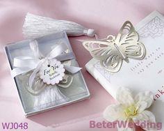 """ borboleta"" prata- metal marcador com borla de seda branca        #casamentos #favoresdocasamento #brindes #presentes #souvenirs #festa #damasdehonra #presentesdobebê"