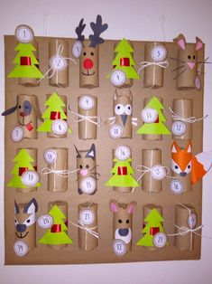 Vanoce19 Christmas Crafts For Gifts, Easter Crafts For Kids, Diy For Kids, Christmas Fun, Christmas Decorations, Christmas Ornaments, Advent Calendars For Kids, Diy Advent Calendar, Advent Calenders