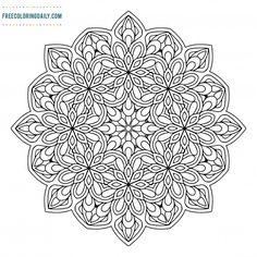 Free Pattern Mandala Coloring Sheet