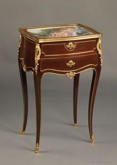 OnlineGalleries.com - A Fine Louis XV Style Rosewood and Porcelain Mounted Worktable