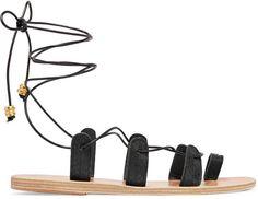 Pin for Later: 12 Façons de Porter la Sandale la Plus Tendance de l'Été  Ancient Greek Sandals Sandales en serpent et en cuir à  lacets Alcyone par ilias LALAoUnis (300€)