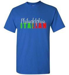Philadelphia Italian Dark Color Crew Neck T-Shirt
