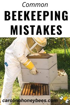 Every beekeeper makes mistakes that's impossible to avoid. However, these are some common beekeeping mistakes often made by beginner beekeepers that you can work to avoid. #carolinahoneybees #beekeepingmistakes