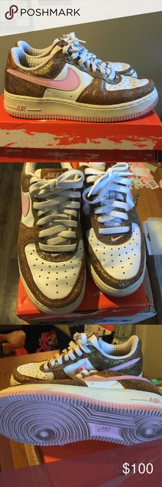 Nike Air Force Super cute, vintage Nike Air Force ones. I've owned these for over 10 years and probably wore them like 3 times. In great condition. You'll be the only person with a pair of these 😊 Nike Shoes Sneakers
