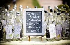 Favor & seating idea for a dry wedding!