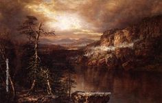 Daniel Huntington Lake Minnewaska after Showers, painting Authorized official website