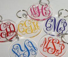 Monogrammed Keyring - Personalized Key Ring - Custom Keyring - Monogram Keychain