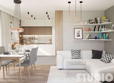 Flat on the Pradnicka street (Kitchen and Salon) on Behance